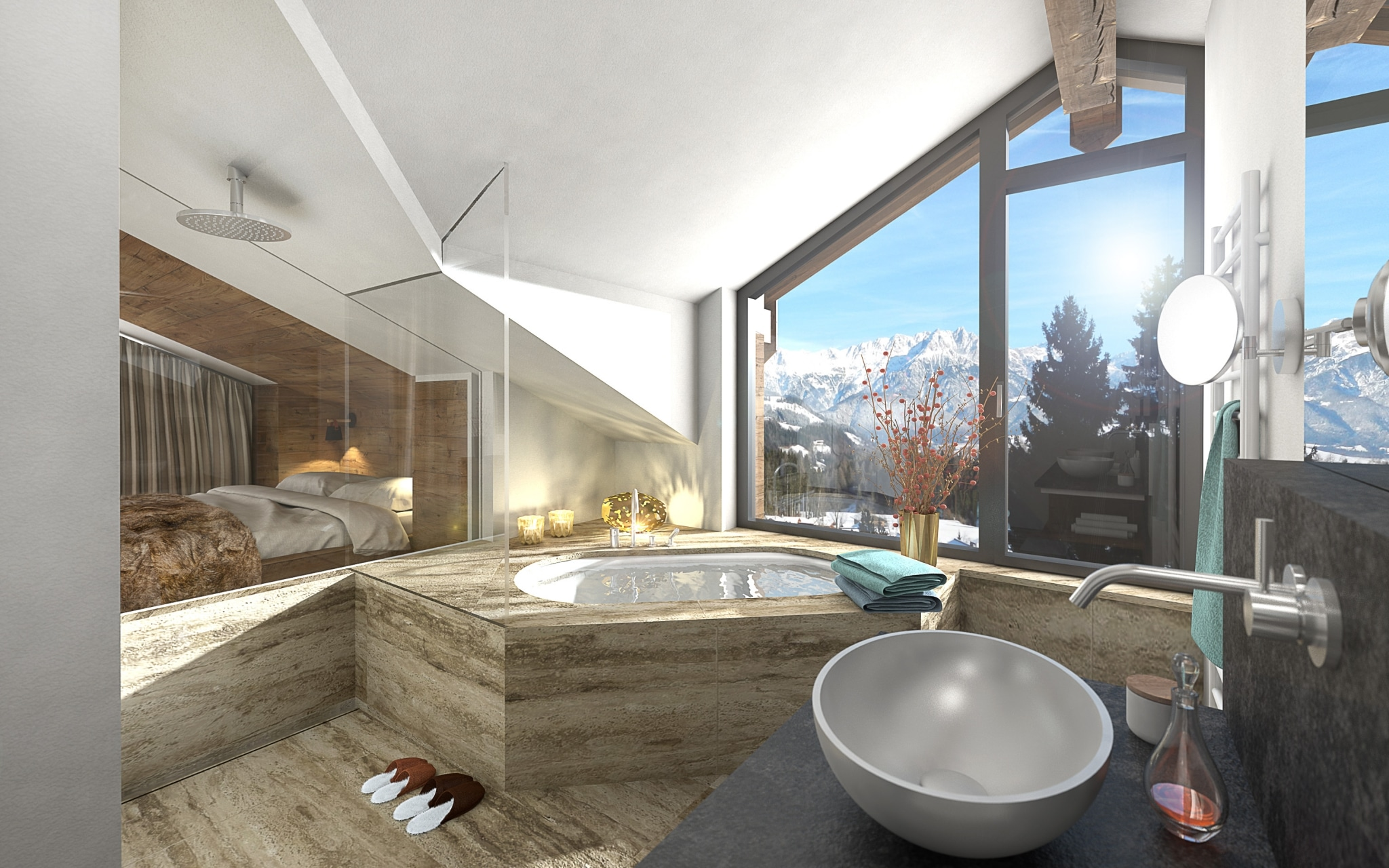 Badezimmer im Apartmenthaus Meer.Blick.